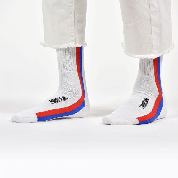 calza-riga-verticale-rossa-blu