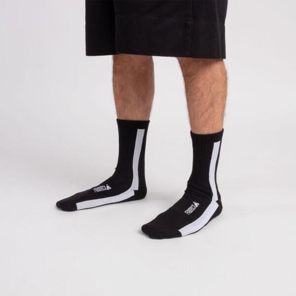 calze-nere-linea-verticale-bianca