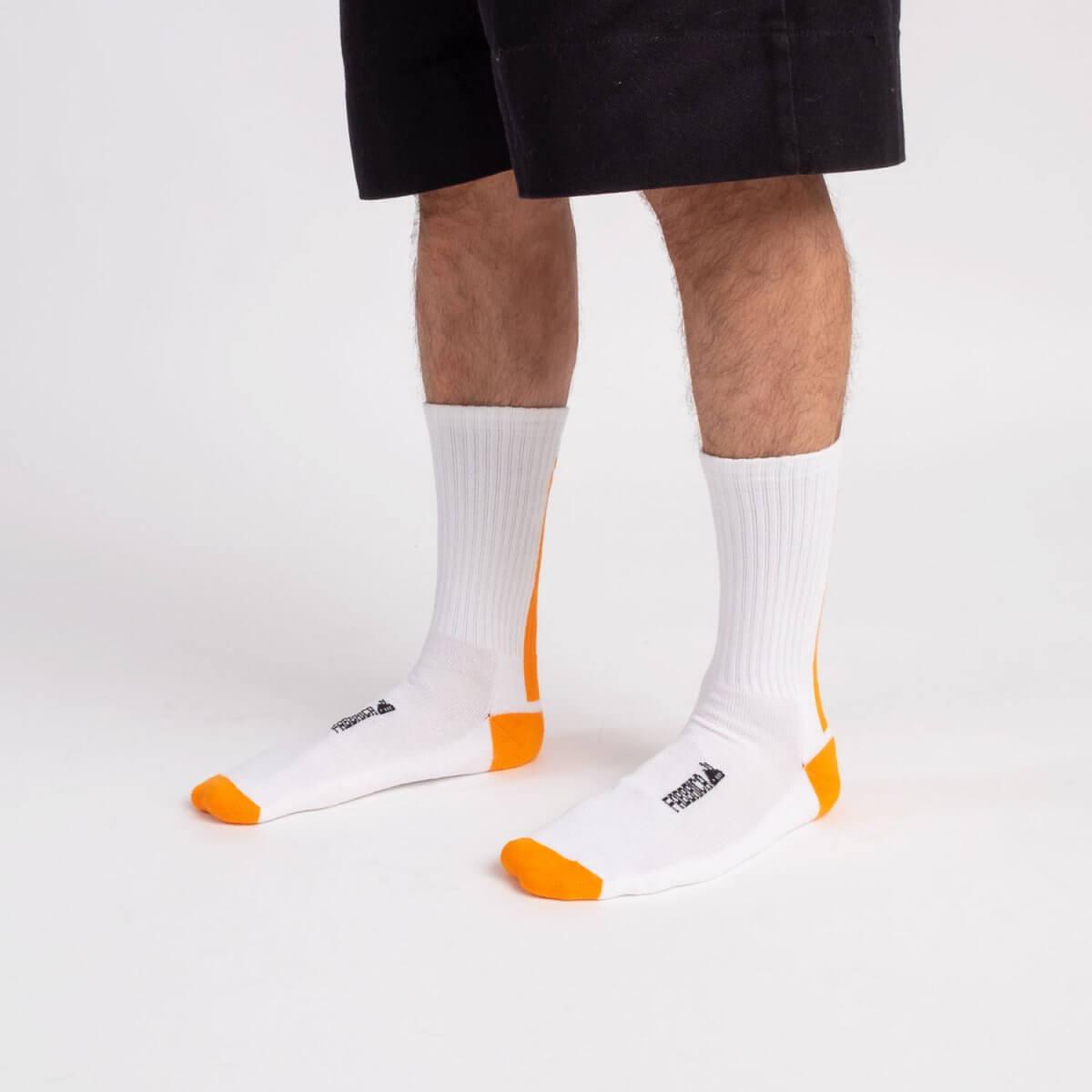 socks-fluo-orange